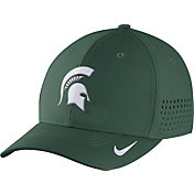 Nike Men's Michigan State Spartans Green Vapor Sideline Swoosh Flex Hat