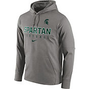 Nike Men's Michigan State Spartans Grey Circuit Performance Football Hoodie