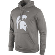 Nike Men's Michigan State Spartans Grey Performance Practice Hoodie
