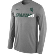 Nike Men's Michigan State Spartans Grey Legend Long Sleeve Shirt