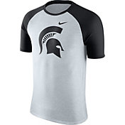 Nike Men's Michigan State Spartans Oatmeal/Black Gridiron Grey Jersey Hook T-Shirt