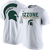 Nike Men's Michigan State Spartans 2016-17 Izzone Basketball White T-Shirt
