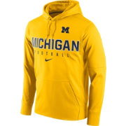 Nike Men's Michigan Wolverines Maize Circuit Performance Football Hoodie