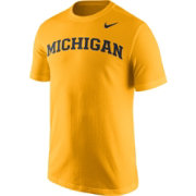 Nike Men's Michigan Wolverines Maize Wordmark T-Shirt