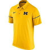 Nike Men's Michigan Wolverines Maize Team Issue Performance Polo