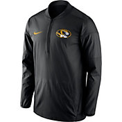 Nike Men's Missouri Tigers Lockdown Black Half-Zip Performance Jacket