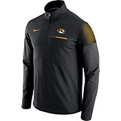 Nike Men's Missouri Tigers Elite Coaches Black Half-Zip Shirt