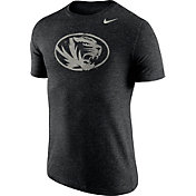 Nike Men's Missouri Tigers Heathered Black Tri-Blend Stamp T-Shirt