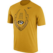 Nike Men's Missouri Tigers Gold Football Icon Legend T-Shirt