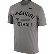 Nike Men's Missouri Tigers Grey Lift Football Legend T-Shirt