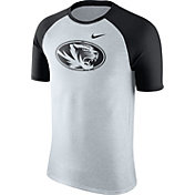 Nike Men's Missouri Tigers Oatmeal/Black Gridiron Grey Jersey Hook T-Shirt