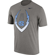 Nike Men's North Carolina Tar Heels Grey Football Icon Legend T-Shirt