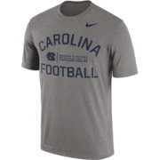 Nike Men's North Carolina Tar Heels Grey Lift Football Legend T-Shirt