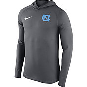 Nike Men's North Carolina Tar Heels Grey Stadium Touch Pullover Hoodie