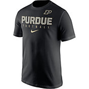 Nike Men's Purdue Boilermakers Football Practice Black T-Shirt