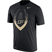 Nike Men's Purdue Boilermakers Football Icon Legend Black T-Shirt