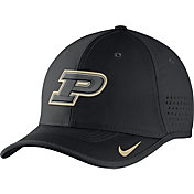 Nike Men's Purdue Boilermakers Black Vapor Sideline Coaches Hat