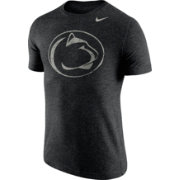Nike Men's Penn State Nittany Lions Heathered Black Tri-Blend Stamp T-Shirt