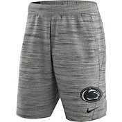 Nike Men's Penn State Nittany Lions Heathered Grey Fleece Basketball Shorts