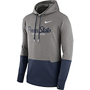 Nike Men's Penn State Nittany Lions Grey/Blue Therma Hoodie
