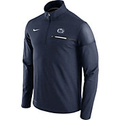 Nike Men's Penn State Nittany Lions Blue Elite Coaches Half-Zip Shirt