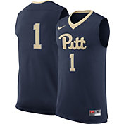 Nike Men's Pitt Panthers #1 Blue Replica Basketball Jersey