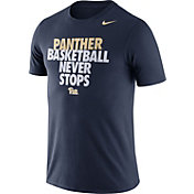 Nike Men's Pitt Panthers Blue Basketball Team T-Shirt