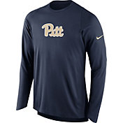 Nike Men's Pitt Panthers Blue ELITE Shooter Long Sleeve Shirt