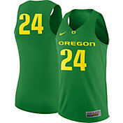 Nike Men's Oregon Ducks #24 Apple Green Replica ELITE Basketball Jersey