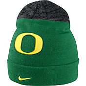 Nike Men's Oregon Ducks Apple Green/Grey Sideline Beanie