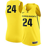 Nike Men's Oregon Ducks #24 Yellow Replica ELITE Basketball Jersey