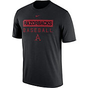 Nike Men's Arkansas Razorbacks Team Issue Legend Baseball Black T-Shirt