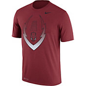 Nike Men's Arkansas Razorbacks Cardinal Football Icon Legend T-Shirt