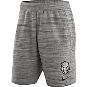 Nike Men's Arkansas Razorbacks Heathered Grey Fleece Basketball Shorts