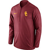 Nike Men's USC Trojans Cardinal Lockdown Half-Zip Performance Jacket