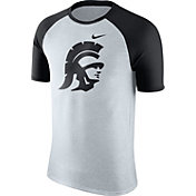 Nike Men's USC Trojans Oatmeal/Black Gridiron Grey Jersey Hook T-Shirt