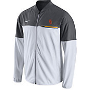 Nike Men's USC Trojans White/Grey Hybrid Flash Football Jacket