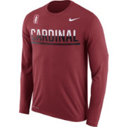 Nike Men's Stanford Cardinal Staff Sideline Cardinal Long Sleeve Shirt