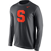 Nike Men's Syracuse Orange Anthracite Logo Long Sleeve Shirt