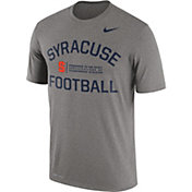Nike Men's Syracuse Orange Grey Lift Football Legend T-Shirt