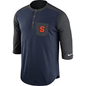 Nike Men's Syracuse Orange Blue/Grey Dri-FIT Touch Henley Shirt