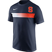 Nike Men's Syracuse Orange Blue Team Stripe Football T-Shirt