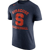 Nike Men's Syracuse Orange Blue Basketball Tri-Blend T-Shirt