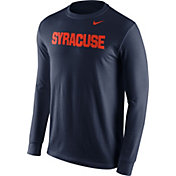 Nike Men's Syracuse Orange Blue Wordmark Long Sleeve Shirt