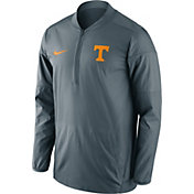 Nike Men's Tennessee Volunteers Gray Lockdown Half-Zip Performance Jacket