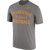 Nike Men's Tennessee Volunteers Gray Lift Football Legend T-Shirt