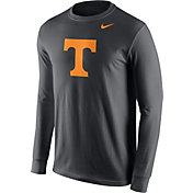 Nike Men's Tennessee Volunteers Anthracite Logo Long Sleeve Shirt