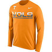 Nike Men's Tennessee Volunteers Tennessee Orange Staff Sideline Long Sleeve Shirt