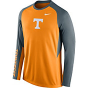 Nike Men's Tennessee Volunteers Tennessee Orange/Gray ELITE Stripe Shootaround Long Sleeve Shirt