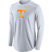 Nike Men's Tennessee Volunteers Player White Dri-FIT Touch Performance Long Sleeve Shirt